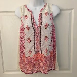 Lucky Brand Sleeveless Blouse Size Small